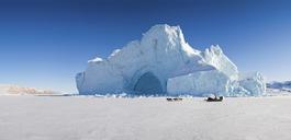 Glacier overlooking snowy landscape - CUF39734