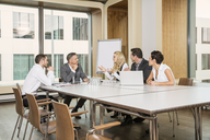 Businesspeople meeting in conference room - CUF39993