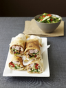 Plate of chicken vegetable rolls - CUF40228