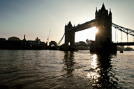 Silhouette of Tower Bridge in London - CUF40261
