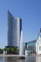 Germany, Leipzig, City-Hochhaus,  Augusteum and Paulinum at Augustusplatz - GW05575