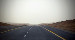 Empty road, Dubai, United Arab Emirates - CUF40750