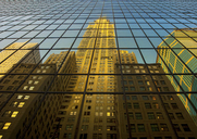 Buildings reflected, New York City, USA - CUF40927