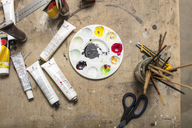 Painting tools at art studio - ZEF15879