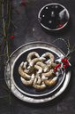 Poppy seed cookies with white chocolate at Christmas time - SBDF03632
