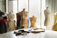 Dressmaker's models in fashion designer's studio - AFVF00746