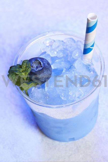 Plastic cup of blueberry slush - BZF00423