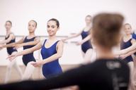 Teacher in front of teenage ballerinas - CUF41901