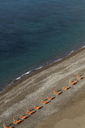 Empty beach chairs on Positano beach, on the Amalfi Peninsula, Campania, Italy - CUF42120