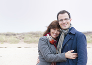Portrait of couple on beach - CUF42808