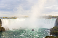 Canada, Ontario, Niagara Falls and boat on the river - WPEF00695