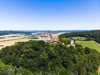 Germany, Hesse, Wetterau, Aerial of Ronneburg Castle - AMF05822