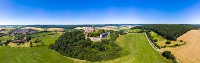 Germany, Hesse, Wetterau, Aerial of Ronneburg Castle - AMF05825