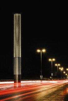 Traffic on bridge at night, Augsburg, Bavaria, Germany - CUF43027