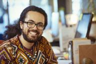 Portrait smiling, confident creative businessman - CAIF21026