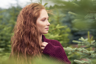 Portrait of redheaded young woman in nature - ABIF00707