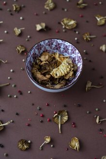 Bowl of dried mushrooms - AFVF00817