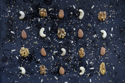 Arrangement of various nuts and seeds - AFVF00823