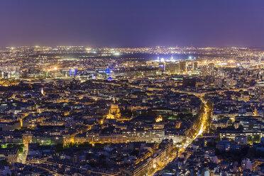 France, Paris, Illuminated city at night - WDF04740
