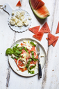 Watermelon salad with onions, feta and basil - SBDF03676