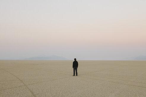 Man standing in vast, desert landscape - MINF00726