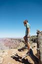 USA, Arizona, Grand Canyon National Park, Grand Canyon, man looking at view - GEMF02204