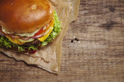 Veggie Burger, overhead view - NAF00101