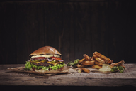 Hot Chili Burger with french fries - NAF00110