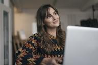 Pretty woman using laptop - JOSF02363