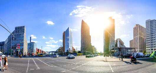 Germany, Berlin, view to Potsdamer Platz at backlight - PUF01313