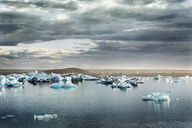 Iceland, South of Iceland, Joekulsarlon glacier lake, icebergs - DMOF00072