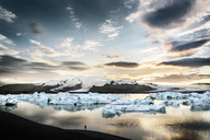 Iceland, South of Iceland, Joekulsarlon glacier lake, icebergs - DMOF00075