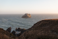 USA, California, West Coast, landscape at sunset - AFVF01055