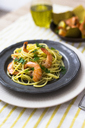 Shrimps with spaghetti on tin plate - GIOF03998
