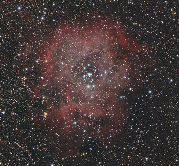 Astrophotography, Emission nebula and cluster NGC 2237 or Rosette Nebula - THGF00063