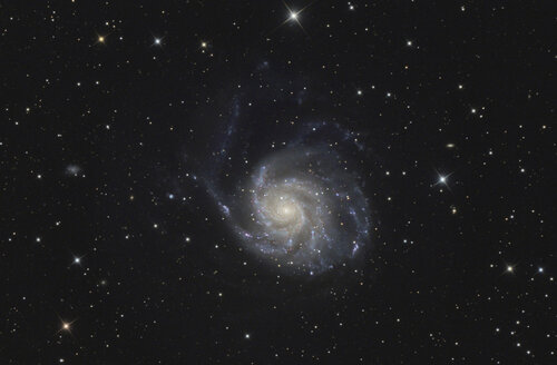 Astrophotography, Spiral galaxy Messier 101 or Pinwheel Galaxy - THGF00066