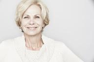 Studio portrait of elegant senior woman - ISF18515