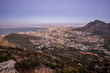 South Africa, Cape Town, sunset above the sea - DAWF00681