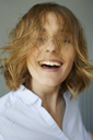 Portrait of laughing woman - PNEF00794