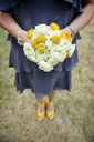 Bridesmaid with yellow bouquet and shoes - ISF19390