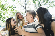 Group of happy friends outdoors - UUF14867