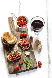 Italian buschetta and red wine - SBDF03722