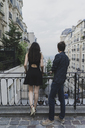 France, Paris, young couple in the district Montmartre - AFVF01262