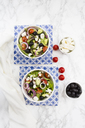 Two bowls of Greek salad - LVF07376