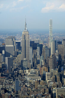 USA, New York, Manhattan, Empire State building and 432 Park Avenue - HLF01105