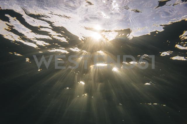 Maledives, Ocean, under water shot, sunlight - KNTF01193