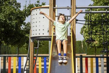 Little girl on slide - JSMF00396
