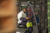 Worker in forklift - ZEF15965