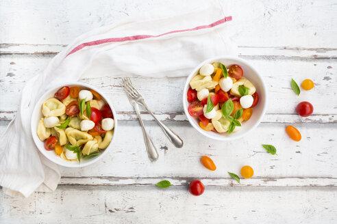 Tortellini salad with tomato, mozzarella and basil - LVF07394