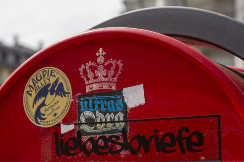 Denmark, Copenhagen, mailbox with sign 'love letters' - NG00485